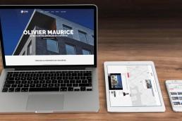 Création du site web de Olivier Maurice, courtier immobilier 1